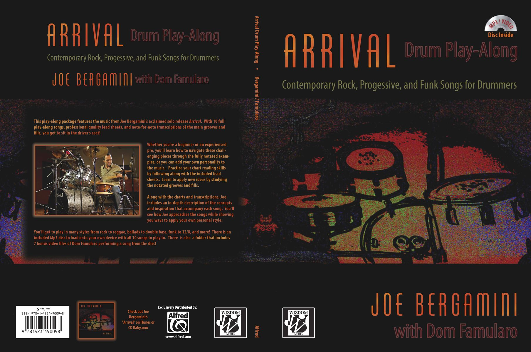 wizdom media alfred release joe s arrival drum play along book cd