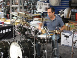 Tama Star Drums event with Joe B 3
